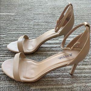 JustFab Beige Seidra Classic Heeled Sandal
